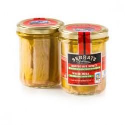 Bonito del Cantábrico en aceite de oliva (Frasco 227 grs)  Serrats