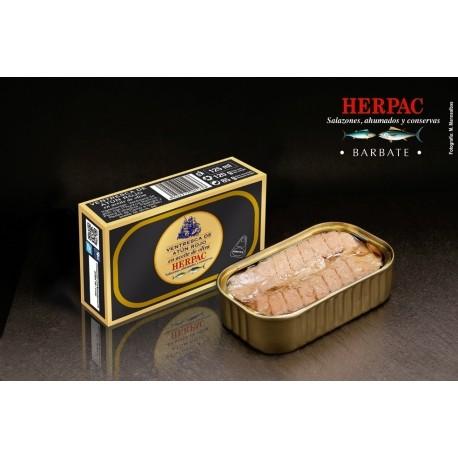 Ventresca de Atún rojo en aceite de oliva (Lata 120 grs) Salazones Herpac