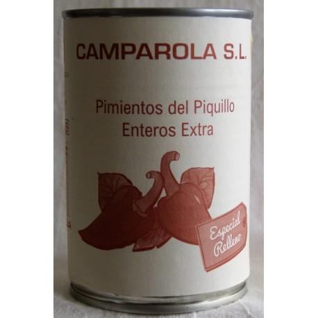 Pimientos Piquillo Artesanal a la leña (Lata 290 grs) Camparola Vda. de Cruz Muerza (San Adrián - NAVARRA)
