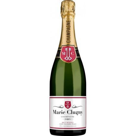 Champagne Marie Clugny caja de 6 botellas Botella Brut Réserve 750 ml